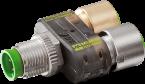 T-Stück SlimLine (LED) M12-St 5pol/ 2x M12-Bu 4pol