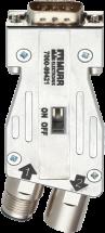 Adaptateur M12/Sub-D Profibus 180°