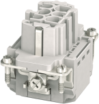 Modlink Heavy insert taille B6 femelle 6 pôles, Push-in, 500V, 16A