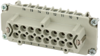 Modlink Heavy insert taille B16 femelle 16 pol, bornes à vis, 500V, 16A