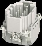 Modlink Heavy insert taille B6 mâle 6 pôles, Push-in, 500V, 16A