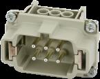 Modlink Heavy insert taille B6 mâle 6 pôles, bornes à vis, 500V, 16A