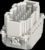 Modlink Heavy insert taille B10 mâle 10 pôles, Push-in, 500V, 16A