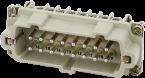 Modlink Heavy insert taille B16 mâle 16 pôles, bornes à vis, 500V, 16A