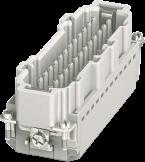 Modlink Heavy insert taille B24 mâle 24 pôles, Push-in, 500V, 16A