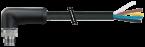 M12 Power St. 90° L-kod. freies Ltg-ende