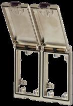 MSDD Cadre double métal argent