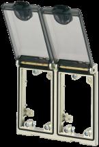 MSDD Cadre double métal argent - Couvercle transp.