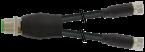 Y-Verteiler M12 St. / M8 Bu. 0° A-kod.