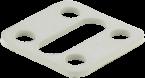Flachdichtung für Ventilsteckersockel 18mm