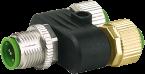 Connecteur T M12 Mâle 5p. vers 2x M12 Fem. 4p.