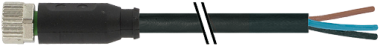 M8 fem. 0° con cavo