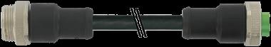 Prolongateur Mini (7/8) 5 pôles, mâle droit vers femelle droit
