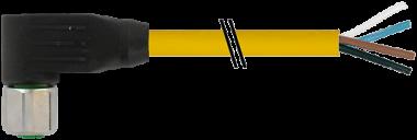 M12 fem. 90° con cavo V4A