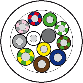 50m Vert.Ltg. PUR-JB 8x0,5+3x1,0