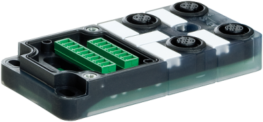 Exact12, 4xM12, 5-pol., Grundmodul PNP-LED