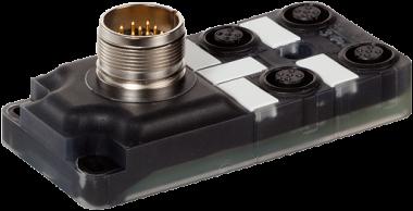 Répartiteur passif Exact12, 4xM12, 5 pôles, connecteur M23 12 pôles