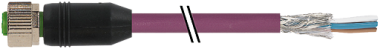 M12 Bu 0° freies Ltg.-ende CANopen/DeviceNet