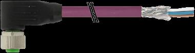 M12 fem. 90° schermato con cavo DeviceNet