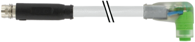 M8 St. ger. rastb. auf Bu. M8 gew. rastb. mit LED