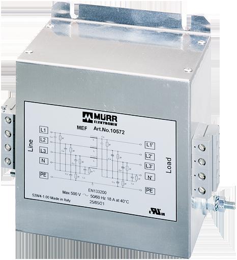 Filtrer réseau MEF 3 phases + neutre - 1 étage