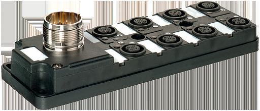 Répartiteur passif MVP12-V, 8xM12, 4 pôles, prise M23 12 pôles