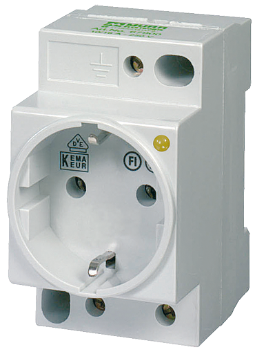 MSVD Prise VDE avec LED 16A-250 VAC câblage AV