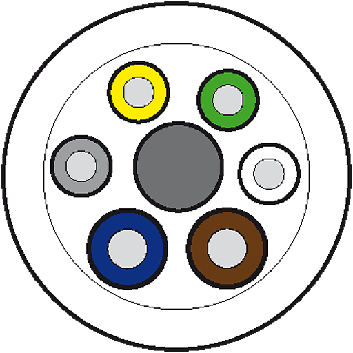 50m Vert.Ltg. PUR-OB 4x0,34+2x0,75