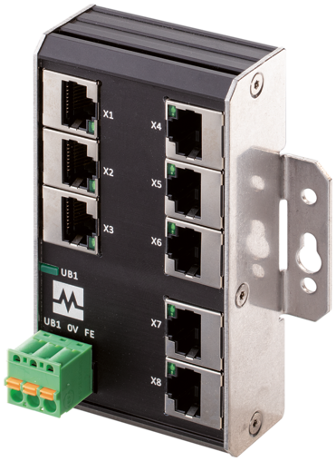 Xenterra 8TX unmanaged Switch Wandmontage 8 Port 100Mbit WM