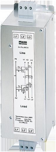 MEF filtro emc trifase 1 livello