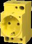 MSVD Prise VDE 16A-250 VAC ''Jaune RAL1016'' Câbl.AV