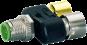 Connecteur T M12 SlimLine Pin 2-4 pontées