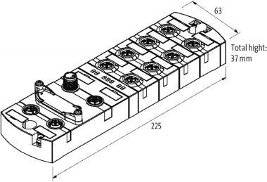 PROFINET Managed Switch 10x10/100/1000BT IP67 Metal M12